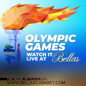 olympic games at bellas cabaret